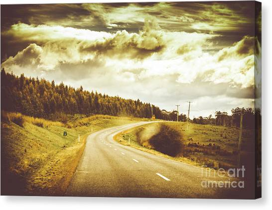 Highway Canvas Print - Window To A Rural Road by Jorgo Photography - Wall Art Gallery