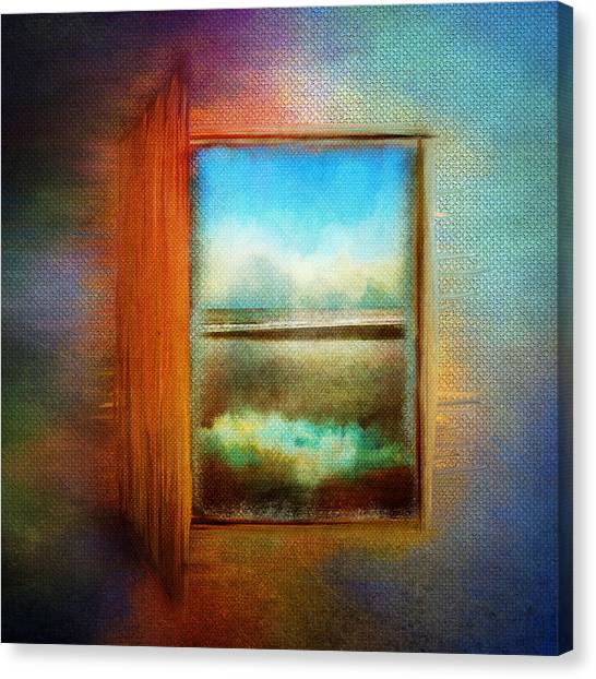 Window To Anywhere Canvas Print