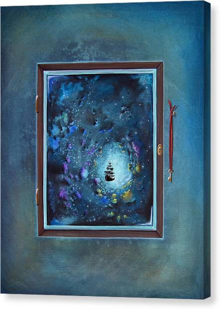 Space Ships Canvas Print - Window To Genesis by Cindy Thornton