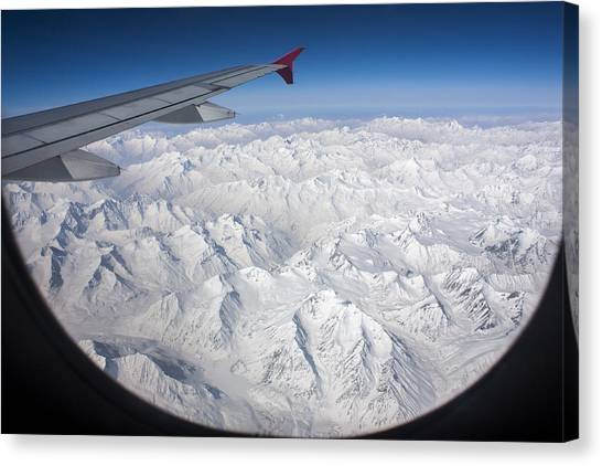 Window To Himalaya Canvas Print