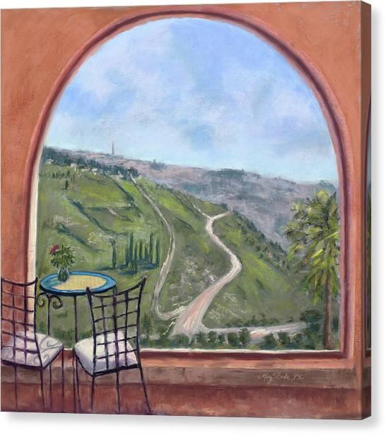 Window To Jerusalem Canvas Print