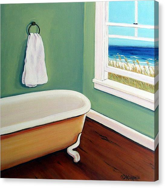 Window To The Sea No. 4 Canvas Print