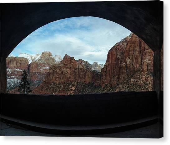 Window To Zion Canvas Print
