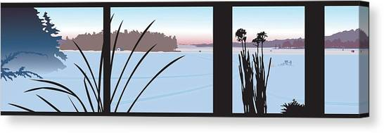 Window View Canvas Print by Marian Federspiel