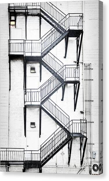 Windows And Stairs II Canvas Print