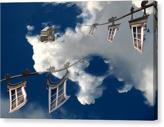 Windows And The Sky Canvas Print