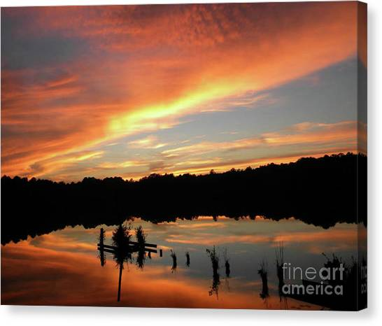 Windows From Heaven Sunset Canvas Print