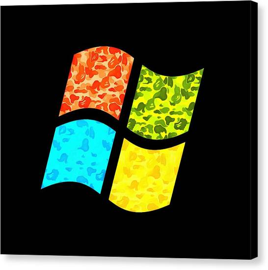 Call Of Duty Canvas Print - Windows Logo by Gee La