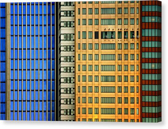 Tall Canvas Print - Windows On The City by Mathilde Guillemot