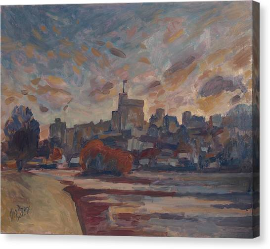 Briex Canvas Print - Windsor Castle Along The Thame by Nop Briex