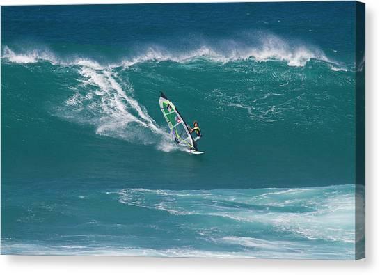 Windsurfer At Hookipa, Maui Canvas Print