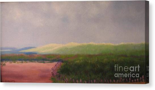 Windswept Dunes Canvas Print by Laura Roberts