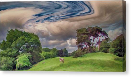 Rolling Hills Canvas Print - Windswept Hills by Sharon Lisa Clarke