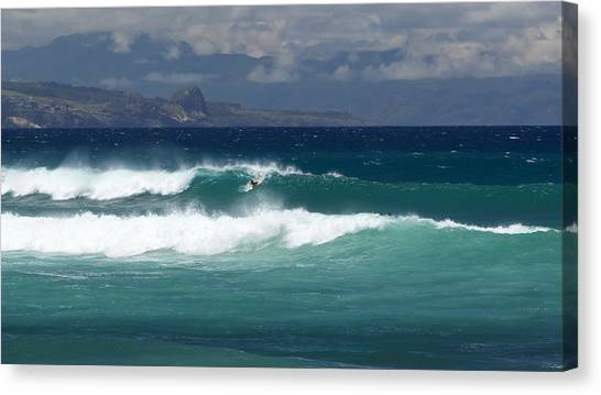 Canvas Print featuring the photograph Windswept Ho'okipa by Susan Rissi Tregoning