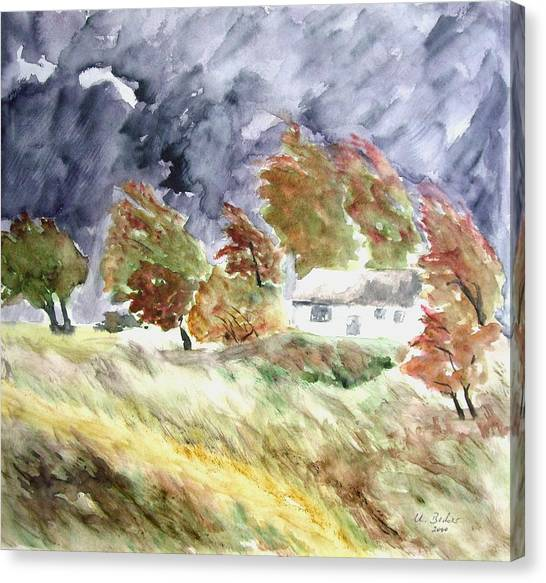 Windswept Landscape Canvas Print