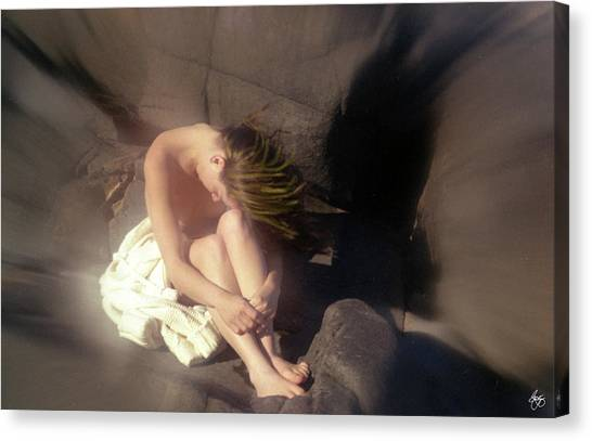 Windswept Nude Canvas Print