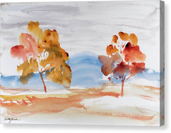 Windy Autumn Colours  Canvas Print