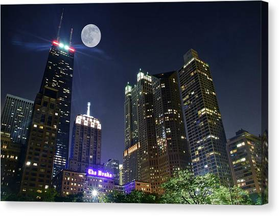 Blackhawk Canvas Print - Windy City by Frozen in Time Fine Art Photography