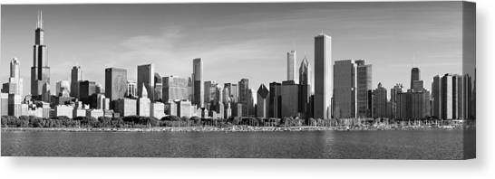 Windy City Morning Canvas Print by Donald Schwartz
