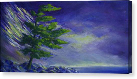 Windy Lake Superior Canvas Print