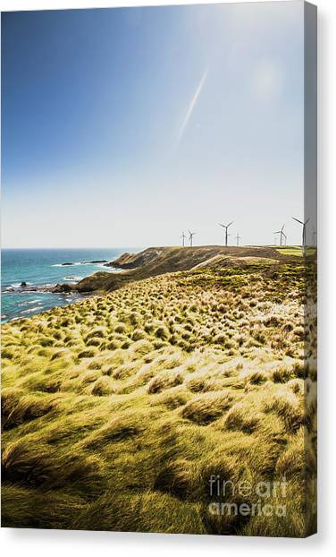 Clean Energy Canvas Print - Windy Meadows by Jorgo Photography - Wall Art Gallery