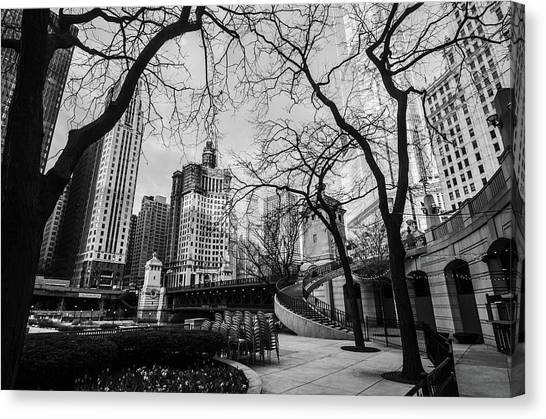 Windy Mornings In The Chi  Canvas Print