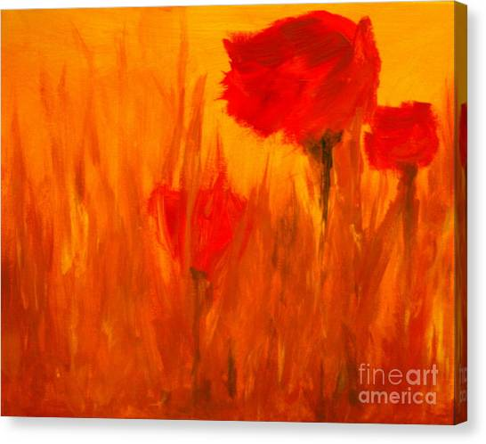 Windy Red Canvas Print