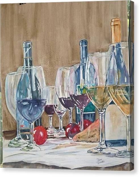 Wine 2 Canvas Print by Diane Ziemski
