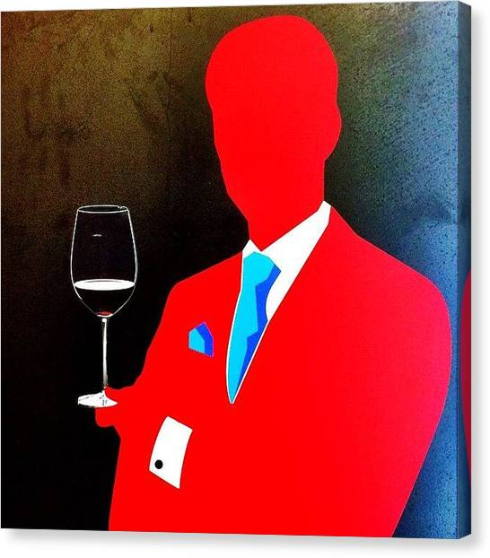 Red Wine Canvas Print - Wine Ad In Vienna Airport #vienna #wien by Neodrax M W