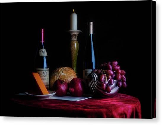Candlestick Canvas Print - Wine And Dine II by Tom Mc Nemar