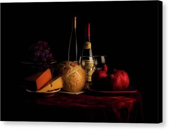Swiss Canvas Print - Wine And Dine by Tom Mc Nemar