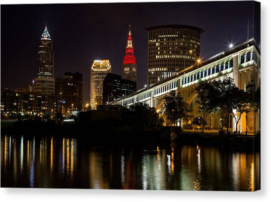 Wine And Gold In Cleveland Canvas Print