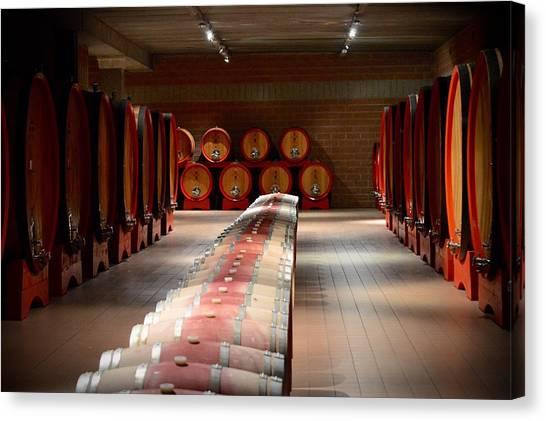 Wine Cellar In Montalcino Canvas Print