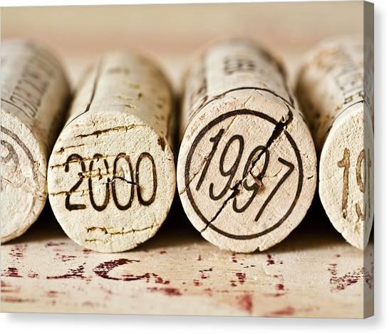 Cellar Canvas Print - Wine Corks by Frank Tschakert
