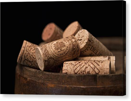 Keg Canvas Print - Wine Corks by Tom Mc Nemar
