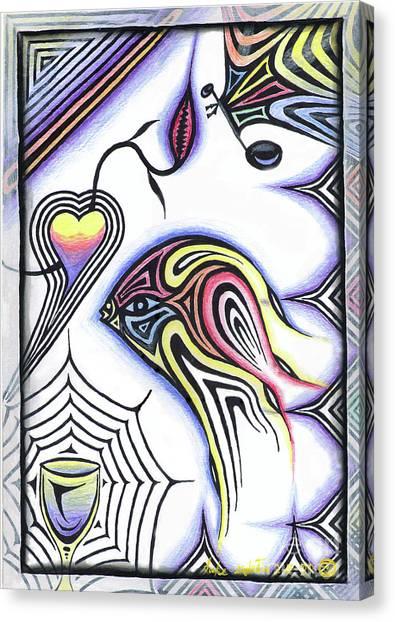 Wine Glass Fish Canvas Print