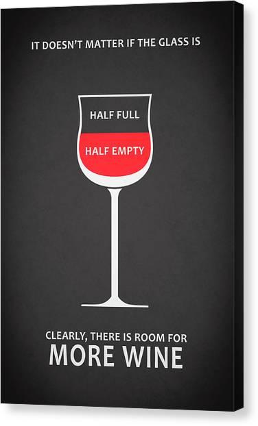 Bars Canvas Print - Wine Glasses 1 by Mark Rogan