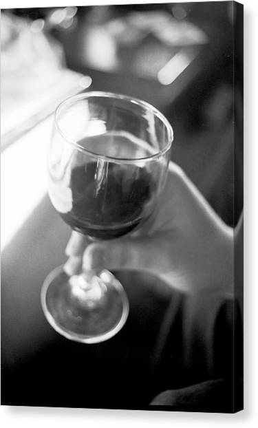 Wine In Hand Canvas Print