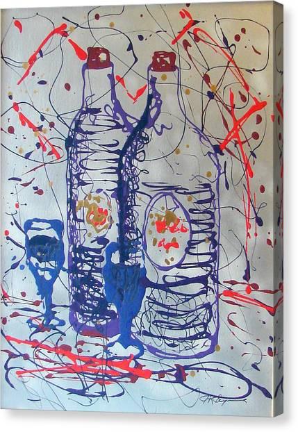 Wine Jugs Canvas Print