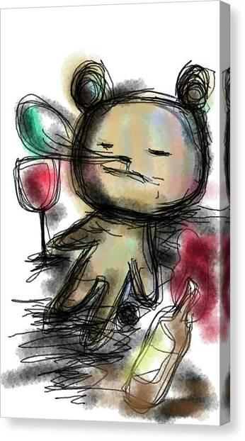 Red Wine Canvas Print - Wine by Mizuki Kudo