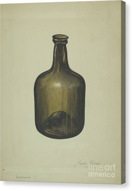 Canvas Print - Wine Or Spirits Bottle by Anna Aloisi