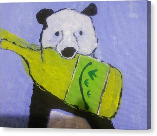 Red Wine Canvas Print - Wine Panda by Goma