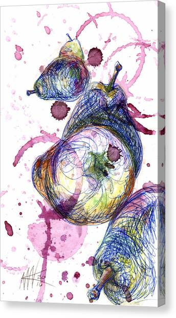 Ballpoint Pens Canvas Print - Wine Pearing by Ashley Kujan