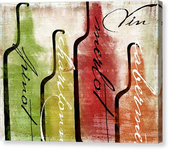 Tasting Canvas Print - Wine Tasting I by Mindy Sommers