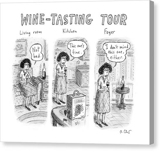 Wine-tasting Tour Canvas Print