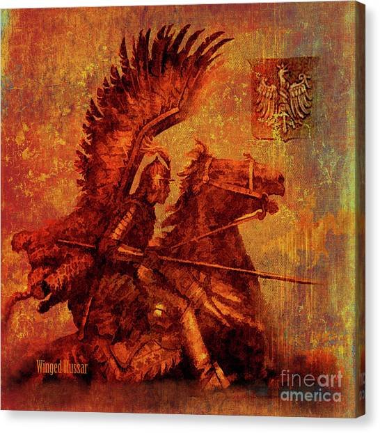 Winged Hussar 2016 Canvas Print