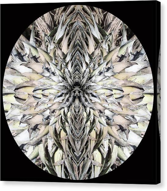 Winged Praying Figure Kaleidoscope Canvas Print
