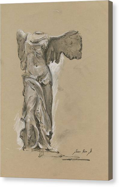 Winged Canvas Print - Winged Vicory Of Samothrace by Juan Bosco
