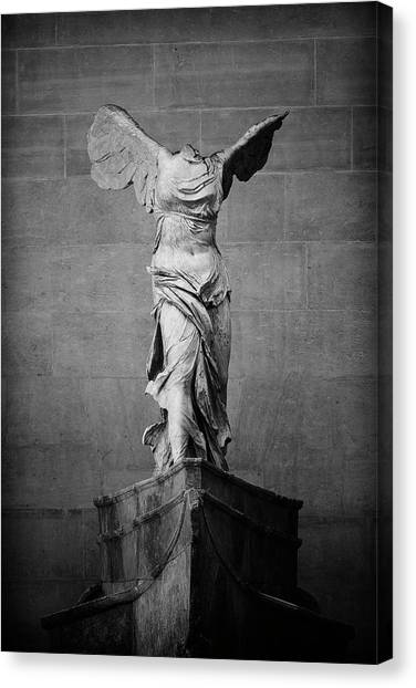 Hellenistic Art Canvas Print - Winged Victory Of Samothrace - #2 by Stephen Stookey