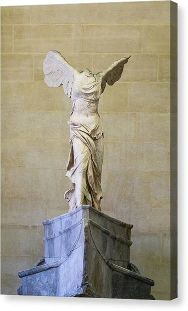 Hellenistic Art Canvas Print - Winged Victory Of Samothrace by Stephen Stookey